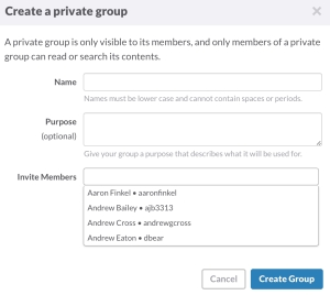 Create a specific group for your league or direct message anyone in the community.